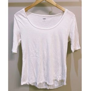 Plain white Old Navy top